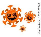 illustration of a virus flying... | Shutterstock .eps vector #1696107565