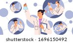 chemical laboratory research.... | Shutterstock .eps vector #1696150492