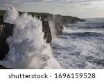 Rough Ocean With Waves Crashing ...