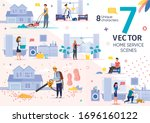 house cleaning  repair service... | Shutterstock .eps vector #1696160122