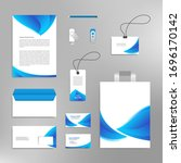corporate identity design... | Shutterstock .eps vector #1696170142