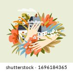 love housing and accomodation...   Shutterstock .eps vector #1696184365