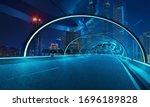 Futuristic Neon Light And Glass ...