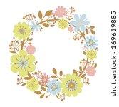 flower frame floral | Shutterstock . vector #169619885