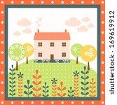 house flower tree   Shutterstock . vector #169619912