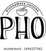 vietnamese cuisine pho vector... | Shutterstock .eps vector #1696227562