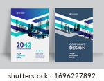 corporate book cover design... | Shutterstock .eps vector #1696227892