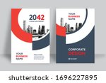 corporate book cover design...   Shutterstock .eps vector #1696227895