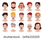 people icons set avatar profile ...   Shutterstock .eps vector #1696233205