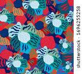 eps 10 vector. seamless pattern ... | Shutterstock .eps vector #1696255258