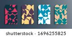 set of abstract geometric... | Shutterstock .eps vector #1696255825