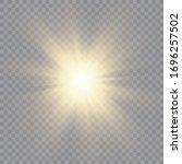 shining golden stars isolated... | Shutterstock .eps vector #1696257502