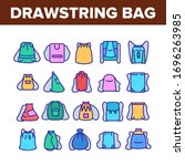 drawstring bag travel accessory ... | Shutterstock .eps vector #1696263985