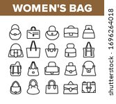 women bag accessory collection... | Shutterstock .eps vector #1696264018