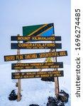 Uhuru Peak Sign  Mt.kilimanjaro ...