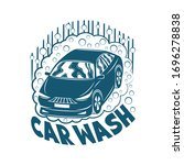 car wash sign on a white... | Shutterstock .eps vector #1696278838