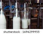 Filling Milk In To Plastic...