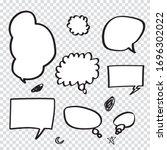 retro set of comics speech and... | Shutterstock .eps vector #1696302022