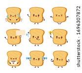 Cute Happy Funny Toast Set...