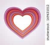 heart symbol clip art  color... | Shutterstock . vector #169631012