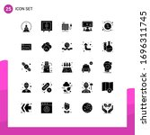pictogram set of 25 simple... | Shutterstock .eps vector #1696311745