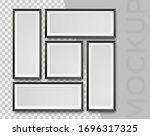 modern realistic empty black... | Shutterstock .eps vector #1696317325