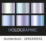 holographic and golden foil... | Shutterstock .eps vector #1696340242