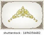 ornament greeting card vector... | Shutterstock .eps vector #1696356682