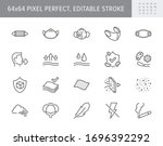 medical masks line icons.... | Shutterstock .eps vector #1696392292