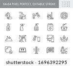 disinfection line icons. vector ... | Shutterstock .eps vector #1696392295