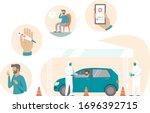 coronavirus  covid19 mobile... | Shutterstock .eps vector #1696392715