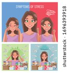 group of women with stress...   Shutterstock .eps vector #1696393918