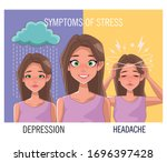 group of women with stress... | Shutterstock .eps vector #1696397428