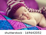 adorable beautiful newborn baby | Shutterstock . vector #169642052