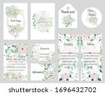 big set of vector cards with... | Shutterstock .eps vector #1696432702