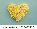 Floral Heart Made Of Yellow...