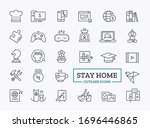 home leisure outline icons.... | Shutterstock .eps vector #1696446865