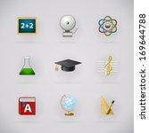 education pictogram icons set...