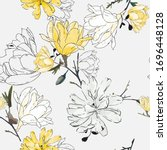 floral seamless pattern with... | Shutterstock .eps vector #1696448128
