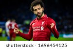 Small photo of Brighton and Hove, England on 12 January 2019. Mohamed Salah of Liverpool during the Premier League Match between Liverpool FC and Brighton & Hove Albion FC at the American Express Community Stadium.