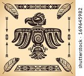 tribal american eagle sign... | Shutterstock .eps vector #169645982
