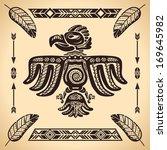 tribal american eagle sign...   Shutterstock .eps vector #169645982