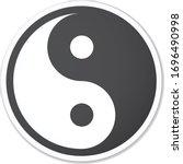 Yin Yang Symbol Black Round...