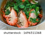 baked river prawns with glass...