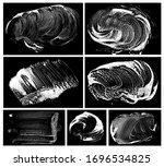 big set of soap grunge... | Shutterstock .eps vector #1696534825