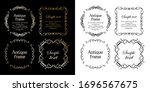 stylish frame design set ... | Shutterstock .eps vector #1696567675