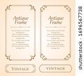 stylish frame design set ... | Shutterstock .eps vector #1696567738