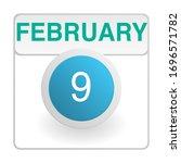 design calendar icon in trendy...
