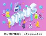virus diagnostics text. medical ... | Shutterstock .eps vector #1696611688