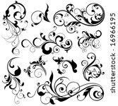 floral design elements | Shutterstock .eps vector #16966195